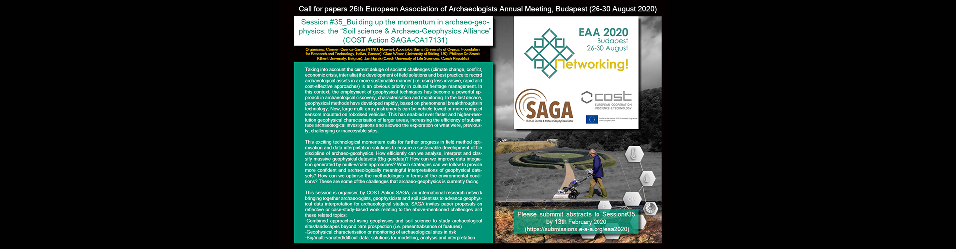 ***COST Action SAGA Call for papers for #EAA2020: https://submissions.e-a-a.org/eaa2020***