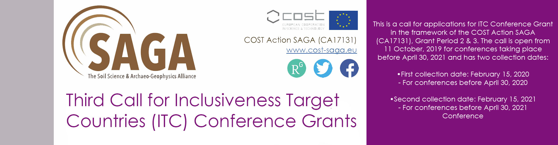 ***Third Call for Inclusiveness Target Countries (ITC) Conference Grants***