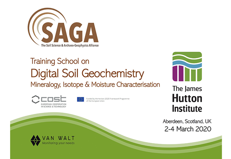 SAGA Training School on Digital Soil Geochemistry: Mineralogy, Isotope & Moisture Characterisation