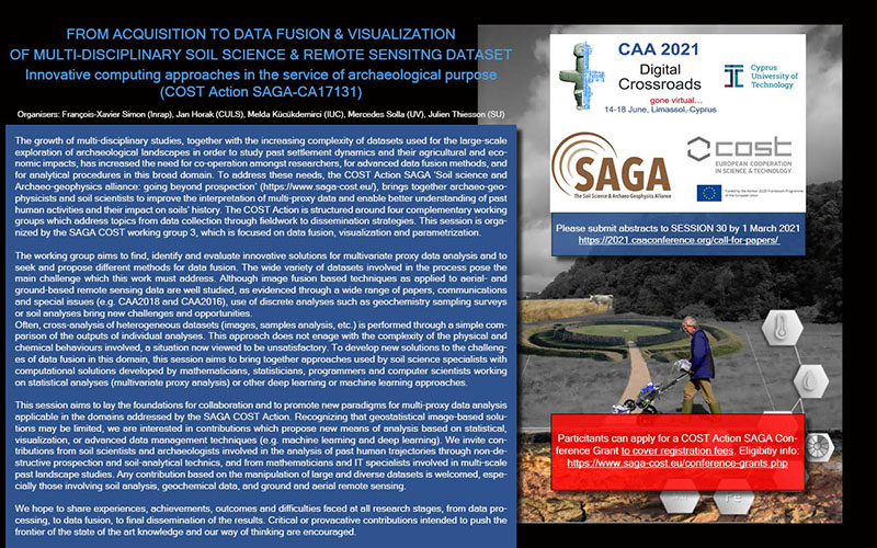 Call for papers (SAGA Session @ CAA2021)