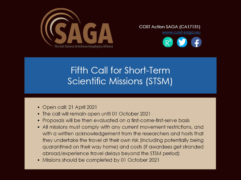 5th STSM call for proposals